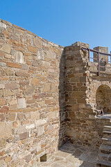 Printed roller blinds Ruins ancient historic Genoese castle or fortress