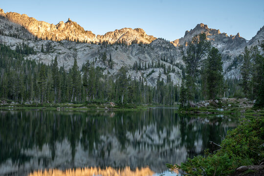 Last Light at Alice Lake