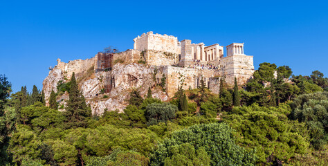 Fototapete - Panoramic view of Acropolis, Athens, Greece