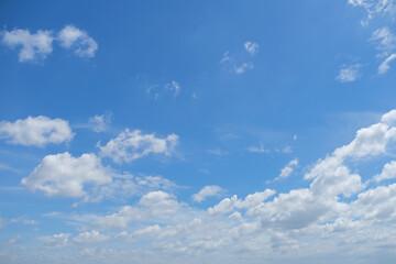 sky cloud blue background, beautiful bright summer