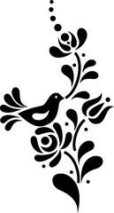 Hungarian beautiful folk art, floral decoration beautiful flower illustration