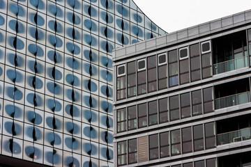 Modern building shapes
