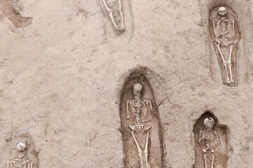 Visigothic necropolis in Grañon with 90 tombs discovered during the works of a highway in La Rioja on July 2020, Spain