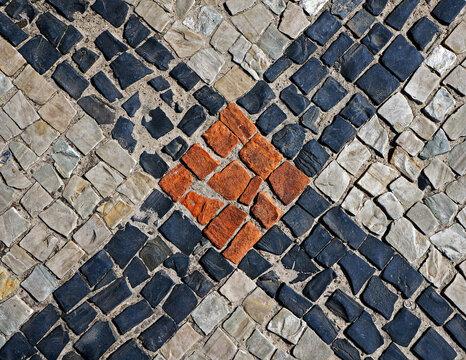 Sidewalk mosaic, Barra da Tijuca, Rio