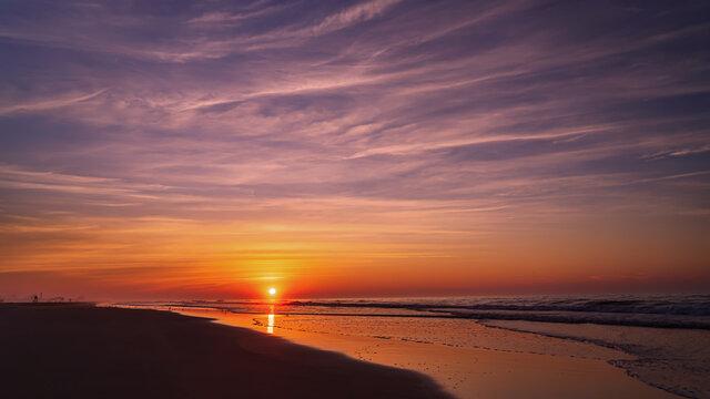 Summer Sunrise on the beach in Wildwood New Jersey