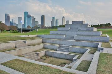 Houston, Texas, United States of America - December 27, 2016.  Houston Police Officers Memorial in Houston, TX