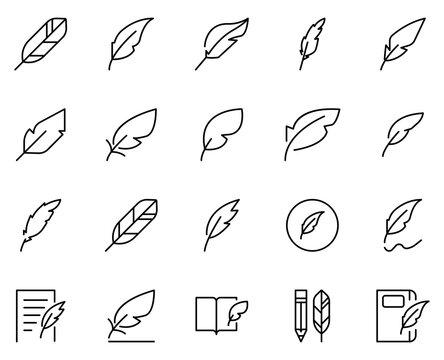 Pen line icon