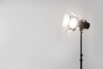 Modern equipment in photo studio