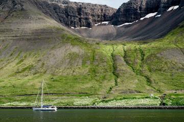 Scenic Landscape Near Reykjavik In Iceland