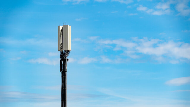 Small mobile or cell 4G transmission tower