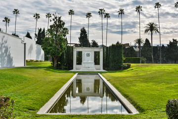 Los Angeles, California, United States of America - January 7, 2017.  Tomb of actors Douglas Fairbanks Sr. and Jr., at Hollywood Forever Cemetery in Los Angeles, CA.