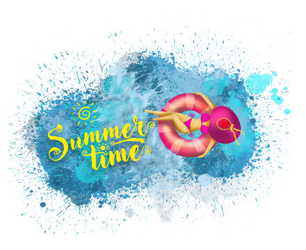 Summertime Pool Splash