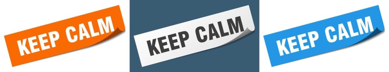 keep calm paper peeler sign set. keep calm sticker