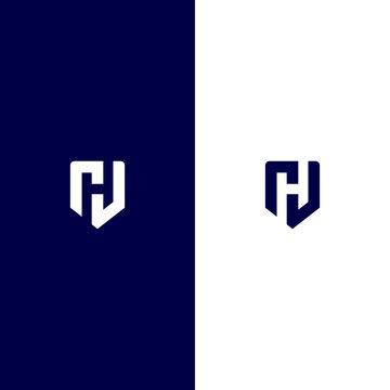 Letter H shield logo vector designs