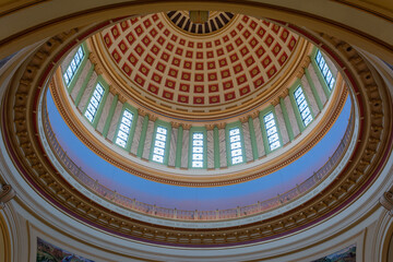 Oklahoma City, Oklahoma, United States of America - January 18, 2017.  Ceiling of the dome of State Capitol of Oklahoma in Oklahoma City, OK.