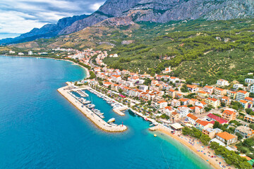 Tucepi Aerial view of town of Tucepi on Makarska riviera
