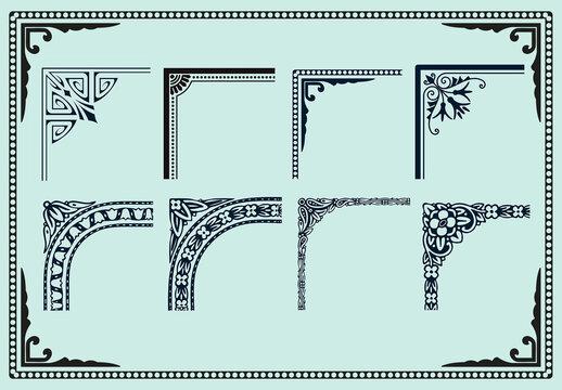 Set of Resizable Decorative Frames
