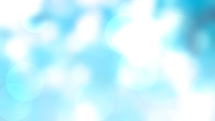 Wall Mural - Abstract blue background with bokeh