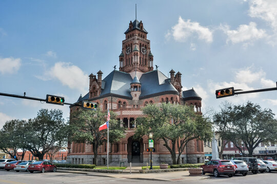 Waxahachie, Texas, United States of America - January 21, 2017.  Ellis County Courthouse in Waxahachie, TX