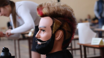 Męska fryzura ślubna