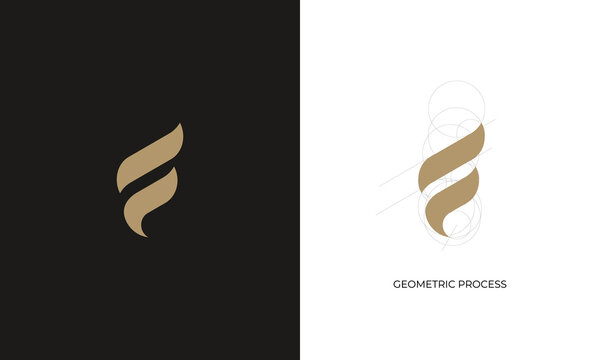 illustration vector graphic of abstract mark, letter mark, initial F, simple, modern, flat, sophisticated, logo design