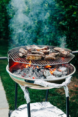 Grilling on a barbeque