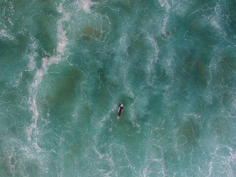 Surfer on marble