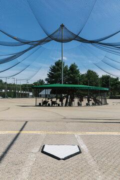 Home Plate at Baseball Batting Cage