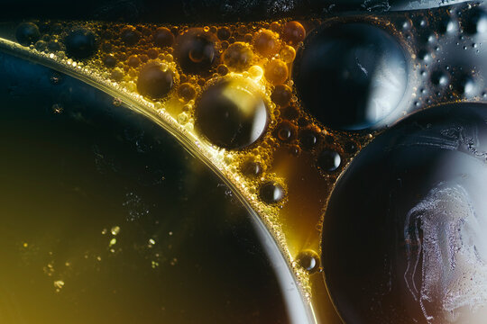 Abstract surreal bubble background