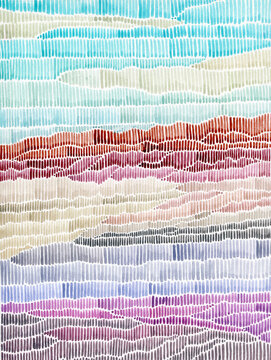 Abstract watercolor colorful lanscape