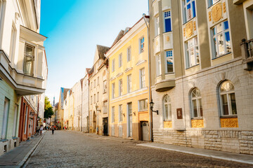 Streets And Old Part City Architecture Estonian Capital, Tallinn, Estonia