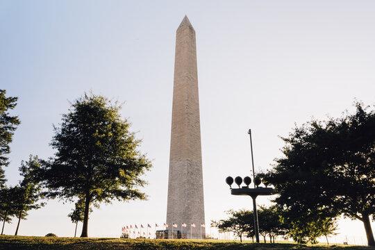 Washington Monument Stock Photo.