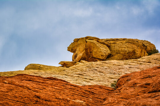 Red Rock Formation on Canyon Mountain