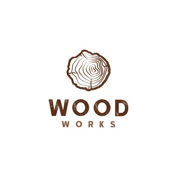 Carpentry, wood logo vector illustration