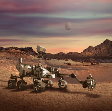 Perseverance rover exploring the surface of the Planet Mars
