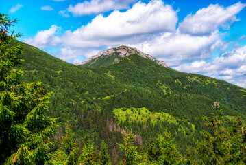 Hill Sivy Vrch in Western Tatras, Slovakia
