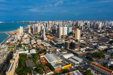 Wall Murals Tourism city. The city of Fortaleza, State of Ceara, Brazil, South America.