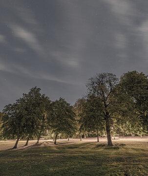 Primrose Hill at Night, London