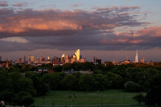Golden Hour London Skyline - from Primrose Hill