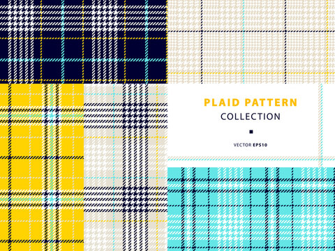 Plaid pattern collection