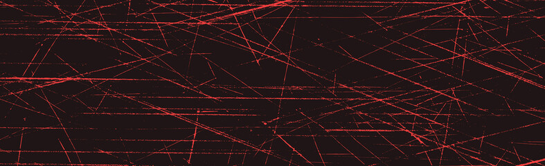 Obraz Grunge red lines and dots on a red background - Vector - fototapety do salonu