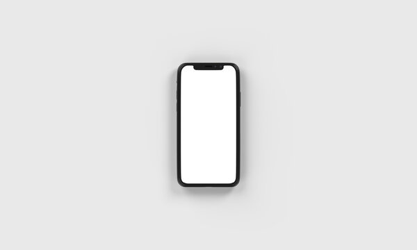 Phone Top View Flat on Ground  Portrait Realistic