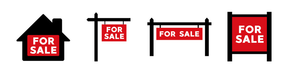 For Sale real estate sign icon. Vector illustration