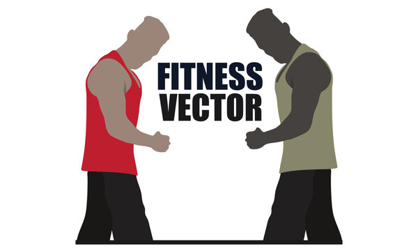 Male Fitness Color Vector Design. 100 % editable and color changeable.