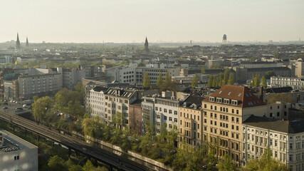 Tuinposter Centraal Europa Sunny buildings, Berlin, Germany