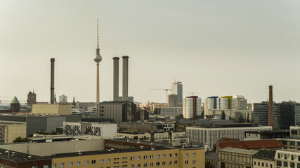 Foto op Plexiglas Centraal Europa Television Tower and skyline, Berlin, Germany