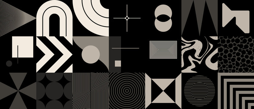 Colorful Geometric Vector Pattern Design