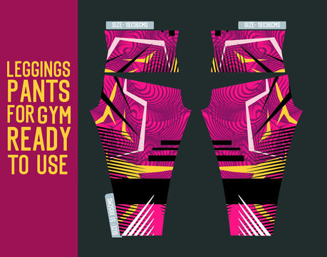 fitness leggings pants vector with mold and ready to use