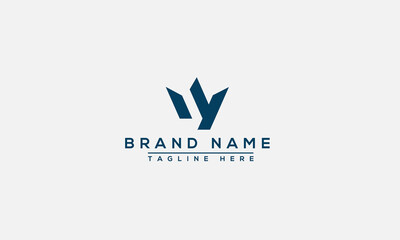 WY Logo Design Template Vector Graphic Branding Element.