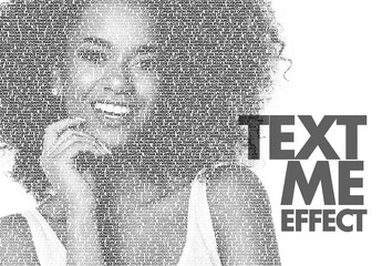 Cut Out Photo Overlay Text Effect Mockup